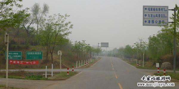 天津市区自驾到蓟县毛家峪长寿村的线路图 高清图片